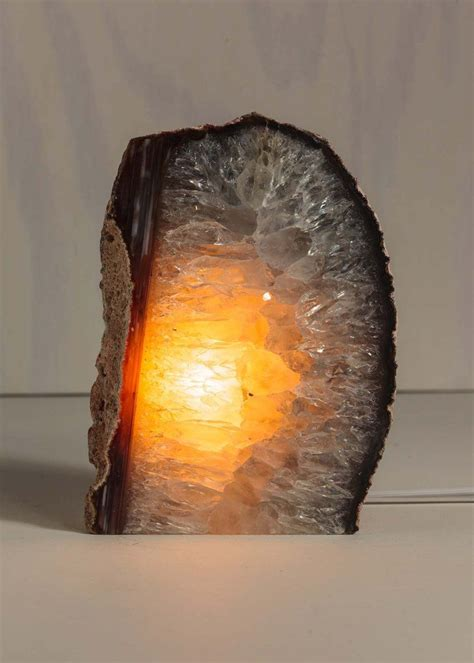natural agate geode crystal lamp home decor  soulmakes