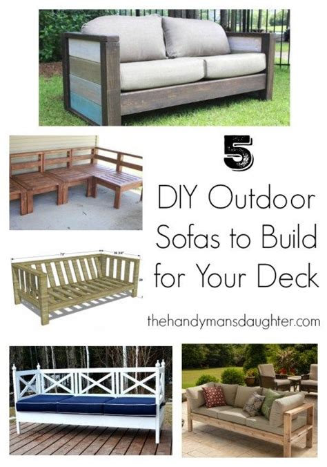 build your own patio furniture plans 5 diy outdoor sofas to build for your deck or patio furniture decks and breezeway