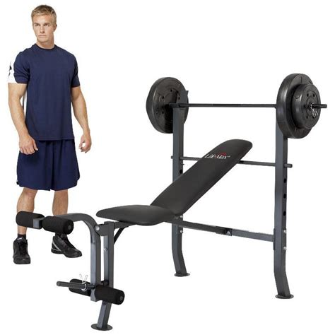 used weight bench set marcy diamond standard bench with 80 lb weight set stock