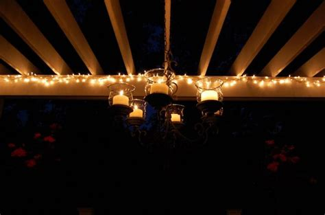 Hanging Patio Lights Ideas 17 Best Images About Patio Lights On Pinterest Plastic Spoons String Lights And Hanging Candles