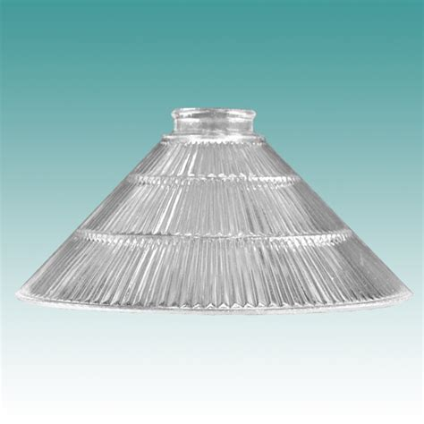 Clear Glass Chandelier 6920 Clear Ribbed Cone 10 Quot Glass Lampshades