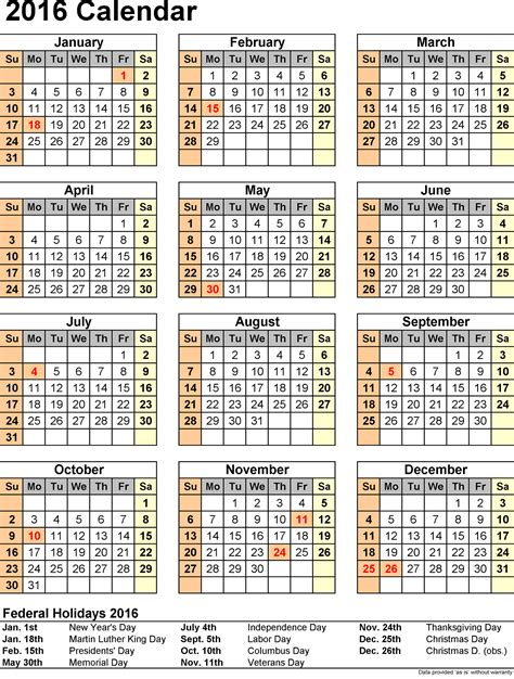 printable calendar holidays 2016 2016 yearly calendars with holidays activity shelter