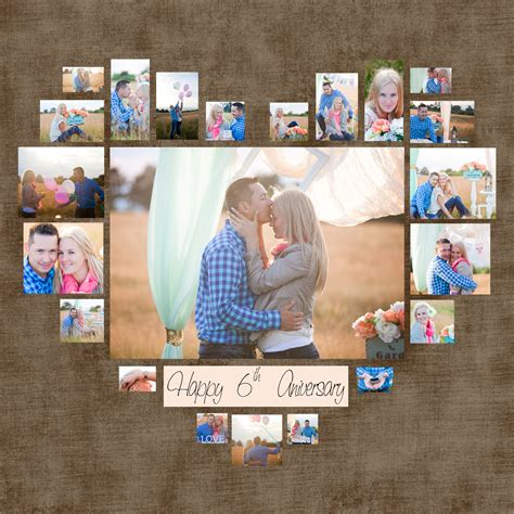 4 Diferent Heart Photo Collage Template Psd Valentine S 4 Photo Collage Template