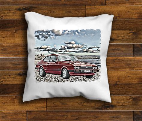 Handcrafted Cushions - vintage retro car ford s unique design cushion cover