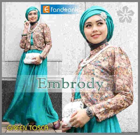 Baju Muslim Brukat Nadira Tosca embrody dress by efan tosca baju muslim gamis modern