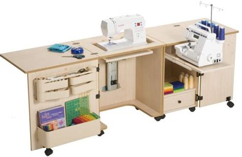 sewing machine serger cabinet plans sylvia 1000 dual machine sewing serger cabinet w84 quot x d20