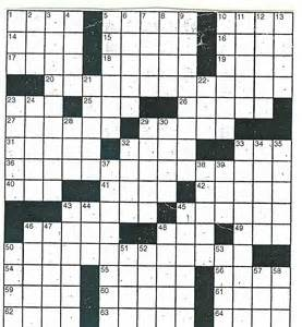 Crossword Puzzle Template by 4 Best Images Of Printable Crossword Puzzle Blank