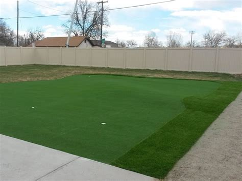 installing a putting green in your backyard installing artificial grass ventana arizona putting green