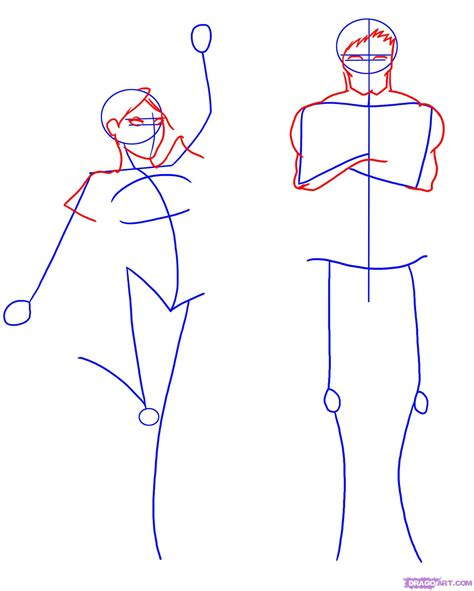 Draw A Person Step By Step Drawing Sheets Added By