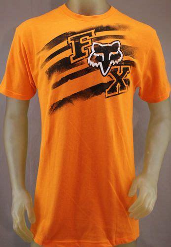 Tshirt T Shirt Kaos Fox Racing fox racing orange t shirt with black white logo s