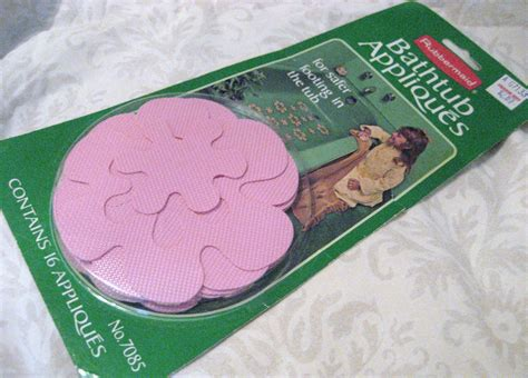 rubbermaid bathtub appliques 70s flower power pink rubbermaid bathtub appliques by