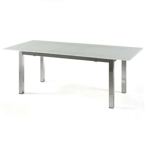 White Glass Extending Dining Table Buy Cheap Frosted Glass Dining Table Compare Tables Prices For Best Uk Deals