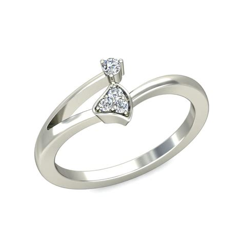 affordable promise ring for in white gold