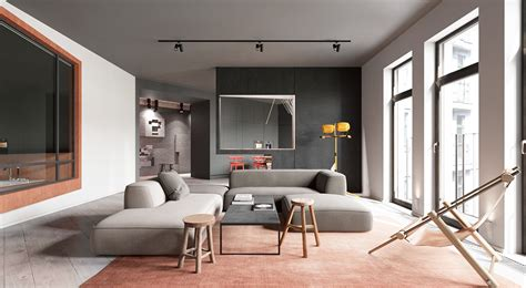 martin architects a sleek apartment interior design with modern and unique