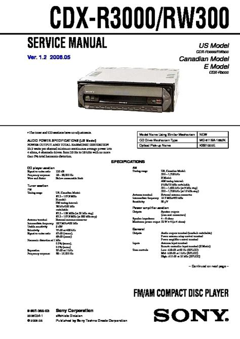 sony cdx r3000 wiring diagram wiring diagram and