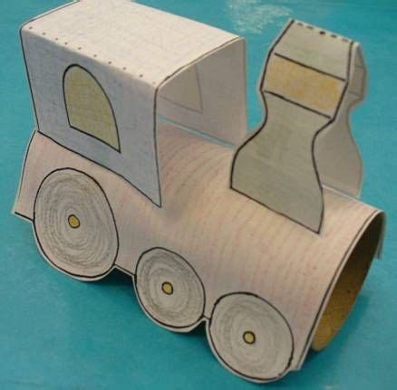 How To Make Paper Trains - toilet paper roll printable craft an idea for bee