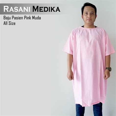 Jas Dokter Lengan Pendek Ukuran S Seragam Dokter baju pasien pink muda rasani medika