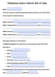 oklahoma new car sales tax free oklahoma dps motor vehicle bill of sale form pdf