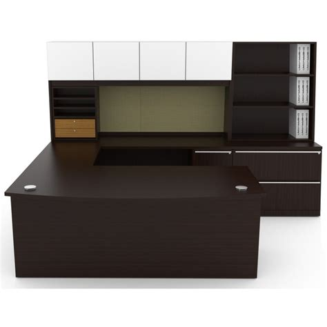 u desk with hutch u shape desk with hutch desks