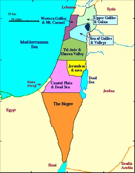 map of isreal israel travel info and travel guide tourist destinations