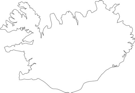 iceland map coloring page map of iceland clip art at clker com vector clip art
