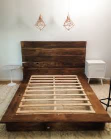 Bed Frames Diy Wood Mr Kate Diy Reclaimed Wood Platform Bed