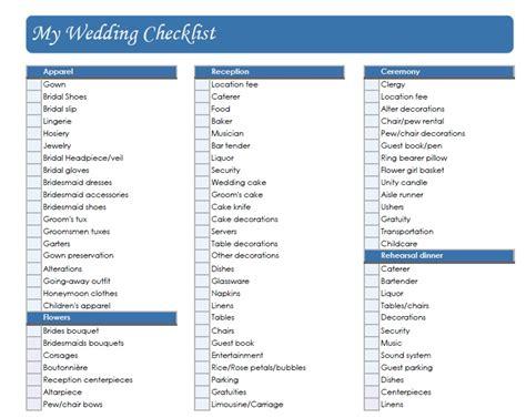 printable wedding checklist 2015 helpful wedding checklist printable 2016