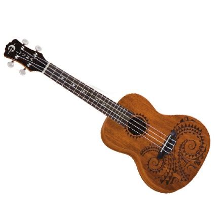luna tattoo concert ukulele mahogany concert ukulele w bag deluca