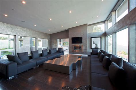 Beverly Hills Private Residence Modern Family Room Los Angeles by Studio1Plaster