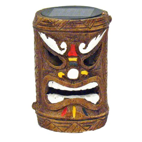 Tiki God Solar Powered Accent Light Post 3 Styles Ebay Tiki Solar Lights