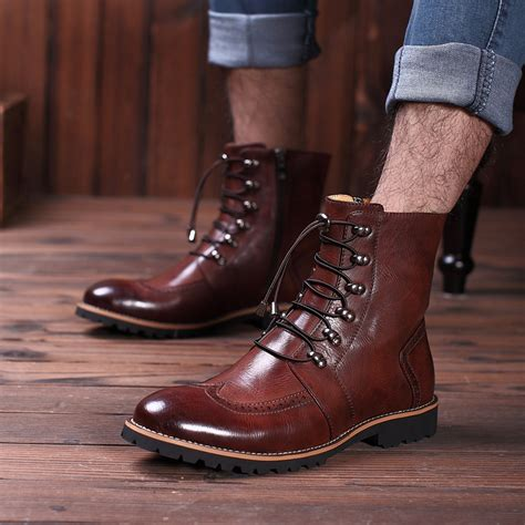Termurah New Arrival Skmei Fashion Casual Leather new arrival fashion bullock shoes handmade warm genuine leather winter boots casual