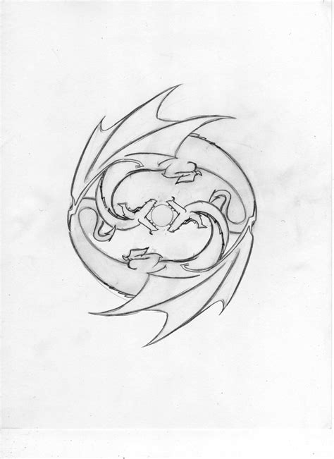 earth dragon tattoo designs gemini design by echelonangel15 on deviantart