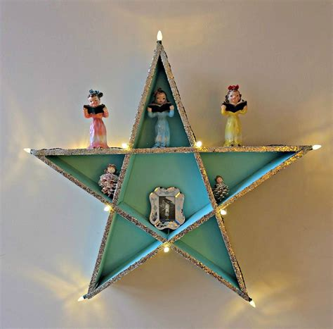 costcos lighted star 2015 how to build a lighted diy shelf thats for ornaments hello creative family