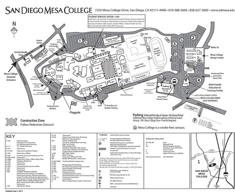 mesa college map san diego map la mesa