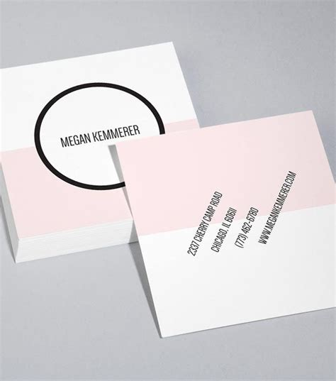 Moo Square Business Cards Template by Moo Colour Field Square Business Card Design Templates