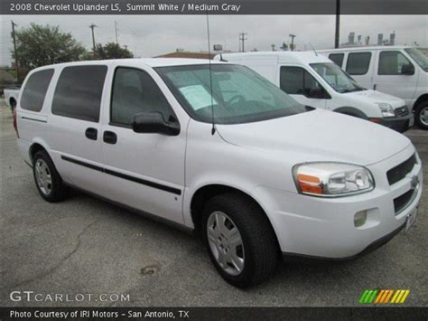 chevrolet uplander ls 2008 summit white 2008 chevrolet uplander ls medium gray