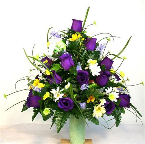 Grave Vases For Flowers by Cemetery Vase Flower Arrangement Featuring By