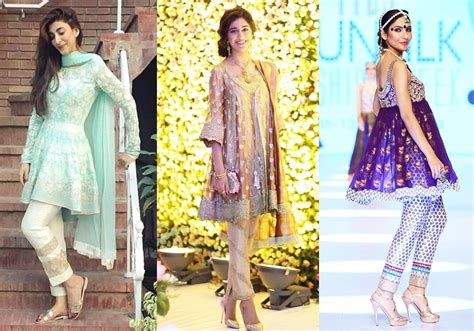 design fashion news latest designs pakistani fashion short frocks with capris