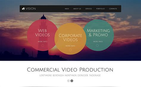 website templates for videographers videographer responsive website template 49517
