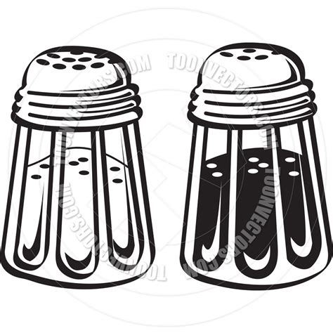 shaker clipart salt clipart black and white collection