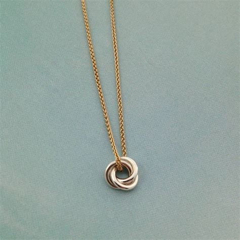 and chain eternity solid nine ct gold necklace by greenaway