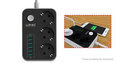 Ldnio Charger Usb 3 Port 3 4a Ac 70 1 18 75 ldnio se3631 6 port usb ac wall charger power socket eu authentic 3 4a total output