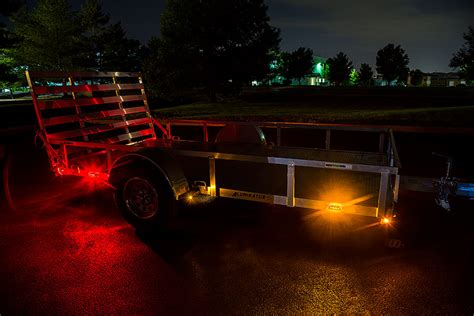 rectangle led truck and trailer lights 3 3 4 led side