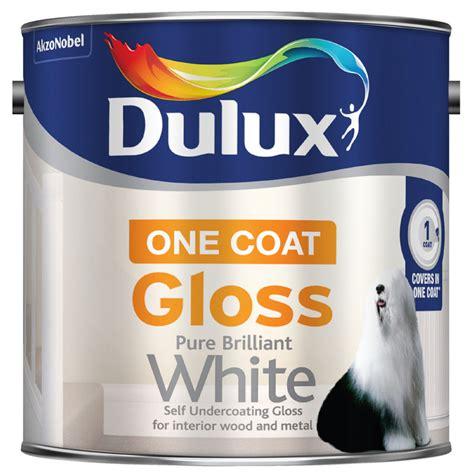 Dulux Pentalite Brillian White 2 5 Lt dulux one coat gloss paint brilliant white 2 5l painting