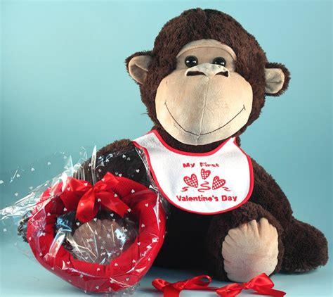 big stuffed monkey for valentines day plush monkey s day baby gift set