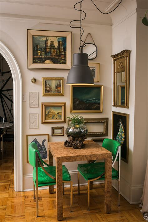 Antique Green Dining Room Vintage Glass Bottles Decor Dining Room Eclectic With