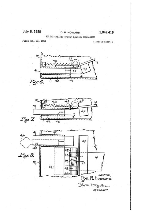 locking mechanism for chest of drawers patent us2842419 filing cabinet drawer locking mechanism