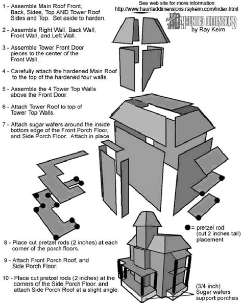 gingerbread house plans free best photos of haunted putz house free templates haunted
