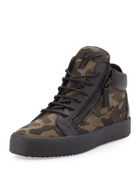 mens giuseppe sneakers giuseppe zanotti men s camo print canvas mid top sneakers