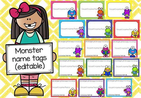 printable monster name tags monster name tags editable mash ie